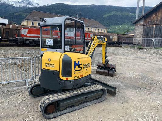 Bahnhof Lienz Osttirol Fundament Aushub Firma Europten 3,0to Bagger