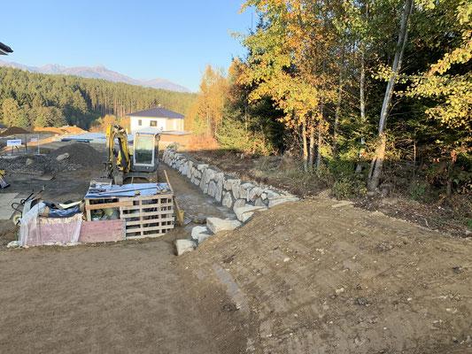Steinmauer Erdarbeiten Mietpark Schachner Lurnbichl Spittal an der Drau