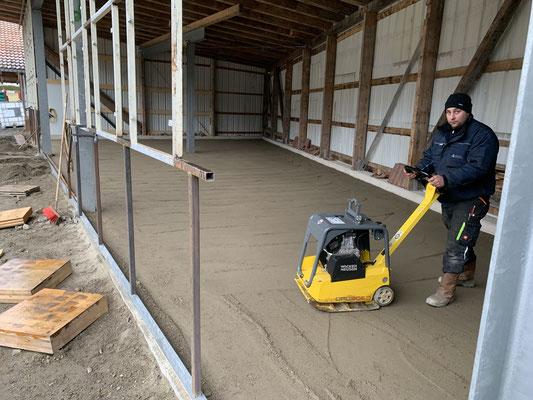 Unterbau für Pflasterarbeiten Carport  Oberkärnten Flattach