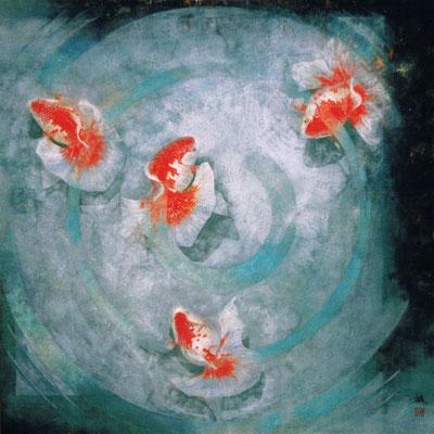 2000年 遊魚図 S50号