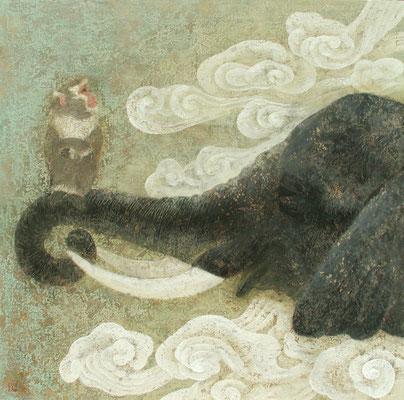 2004年 雲中象猿図 S50号