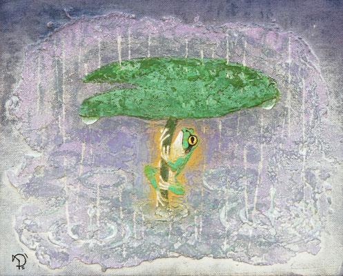 2013年 雨に蛙 F3号