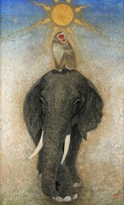 2010年 日光象猿図 P50号