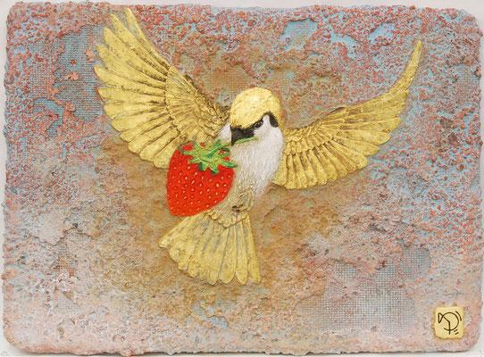 小鳥と苺 F4号