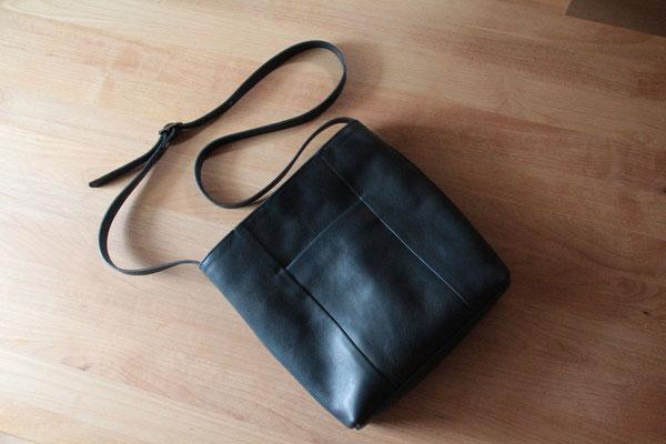 京都のバッグメーカー 革や帆布製のかばん・小物 レザーバッグ ショルダーバッグ(ネイビー・特注品)