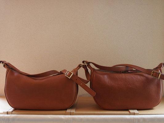 京都のバッグメーカー 革や帆布製のかばん・小物 レザーバッグ ショルダーバッグ(ブランデー)