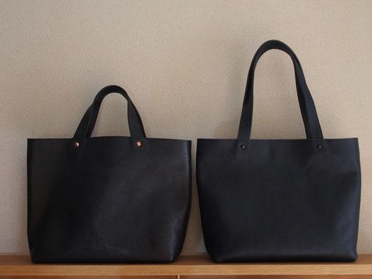 京都のバッグメーカー 革や帆布製のかばん・小物 レザーバッグ レザートート(ネイビー)