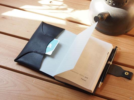 京都のバッグメーカー 革や帆布製のかばん・小物 ほぼ日手帳カバー(マットブラック)