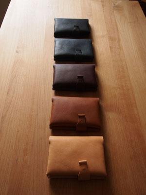 京都のバッグメーカー 革や帆布製のかばん・小物 ほぼ日手帳カバー(ナチュラル ブランデー カカオ ネイビー ネロ)
