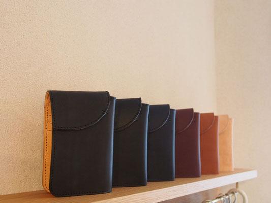 京都のバッグメーカー 革や帆布製のかばん・小物 レザーウォレット(墨 ネロ ネイビー カカオ ブランデー ミツロウ)
