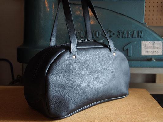 京都のバッグメーカー 革や帆布製のかばん・小物 レザーボストンバッグ(ネロ)