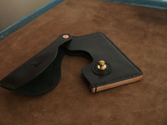 京都のバッグメーカー 革や帆布製のかばん・小物 カードケース/名刺入れ(墨)
