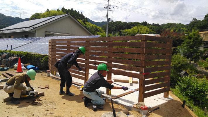 K様邸木製フェンス設置