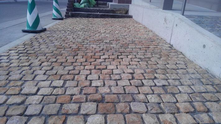ピンコロを使った舗装