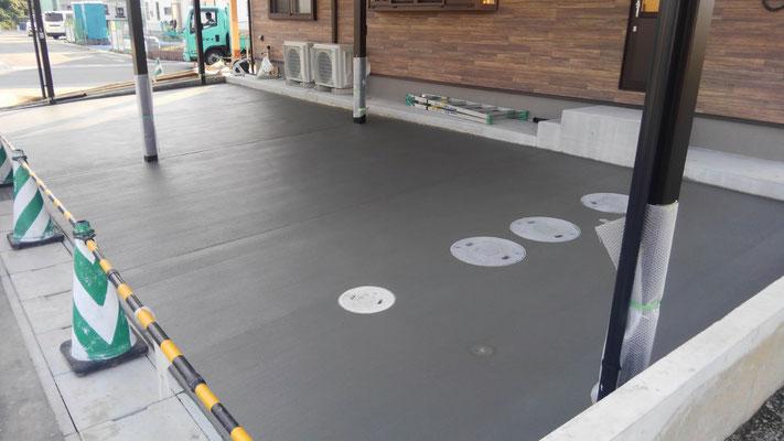 駐車場の土間コンクリート