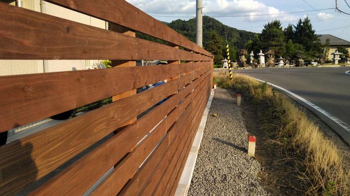 K様邸木製フェンス