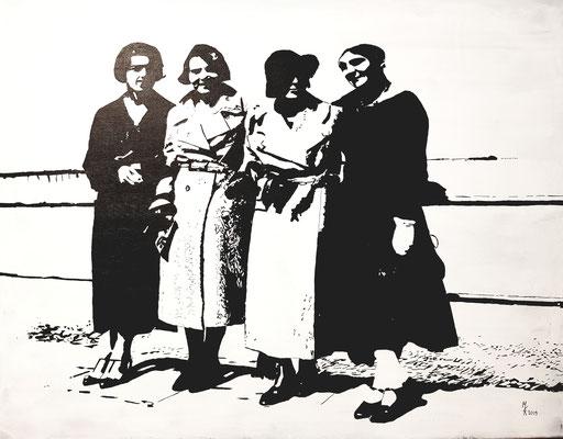Freundinnen 1934 70x90cm Nr. 1903