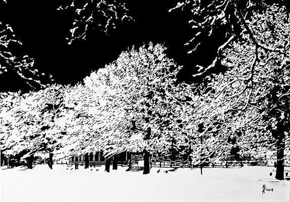 Winterbäume 2018 80x120cm Nr. 1908