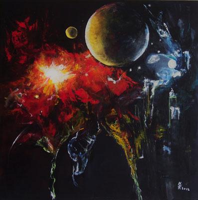 Mondblume/80x80cm/Nr.1612