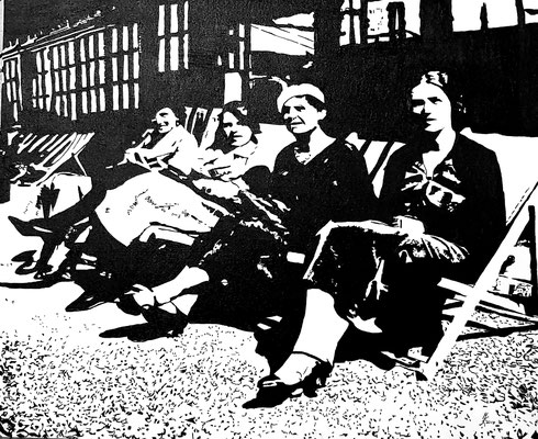 England 1934 50x60cm Leinwandkarton gerahmt Nr. 1904