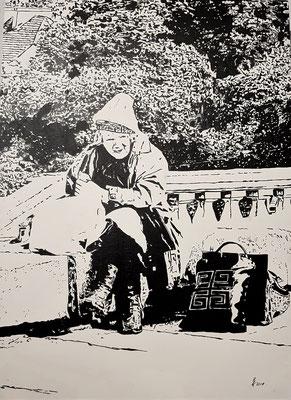 Zufriedenheit Warschau 50x70cm Leinwandkarton Nr. 1906