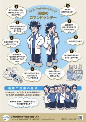 日本放射線科専門医会・医会(JCR)「GO to 放射線科!!」ポスター/メインイラスト