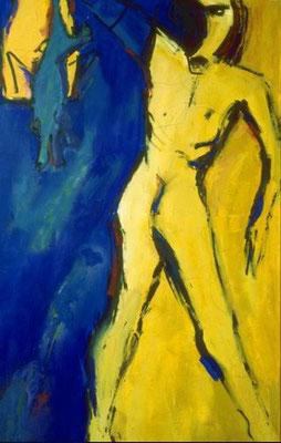 Aufrechter Gang III, Öl auf Leinwand, 1995, 150 x 95 cm