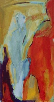 ohne Titel, Mischtechnik auf Leinwand, 2000, 88 x 50 cm