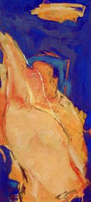Minotaurus, Öl auf Leinwand, 1999, 110 x 50 cm