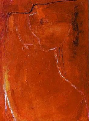 Torso II, Mischtechnik auf Leinwand, 1999, 70 x 50 cm