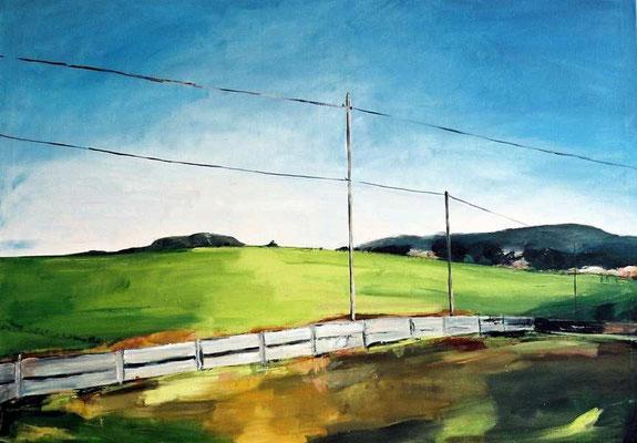 Hilles Zaun, 2007, Acryl auf Leinwand, 110 cm x 150 cm