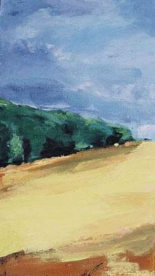 Landschaft 003, 2007, Mischtechnik auf Leinwand, 50 x 30 cm