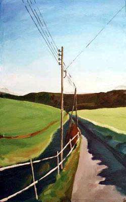 Landschaft 012, 2005, Mischtechnik auf Leinwand, 62 x 82 cm