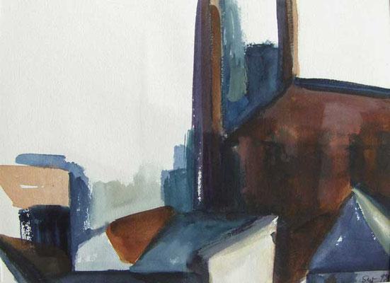 Dürkopp I: 1990, Aquarell, 19 x 26 cm
