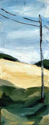 Landschaft 002, 2004, Mischtechnik auf Leinwand, 50 x 25 cm