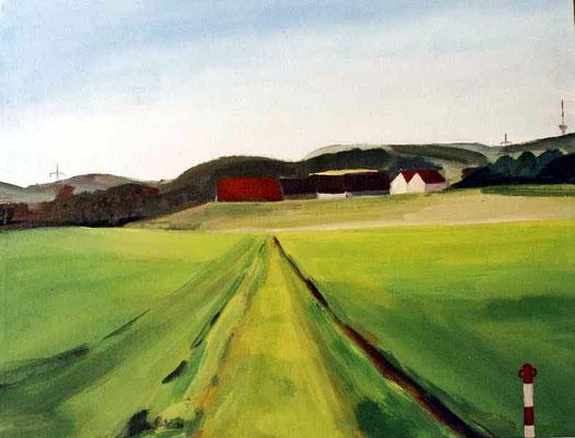 Landschaft 011, 2004, Mischtechnik auf Leinwand, 62 x 82 cm