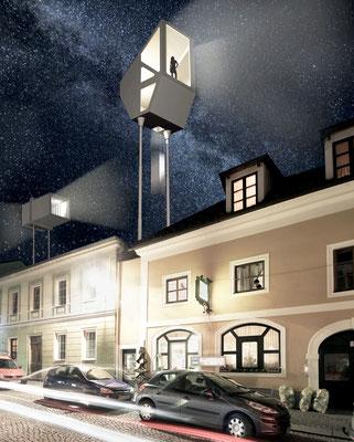 Hoch Hinaus Freistadt Entwurfsprojekt Urbanistik Kunstuniversität Linz Architektur Studio Urbanistik Professor Sabine Pollak