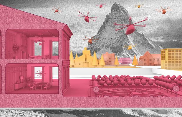 About Skepticism and Euphoria Entwurfsprojekt Kunstuniversität Linz Architektur Fairy Tales in Architecture Competition
