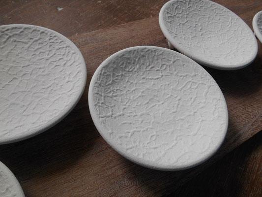茶香炉の受け皿の表面