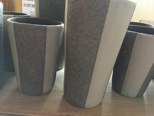 フリーカップの泥塗り(スポンジ塗り)部分の凸を平らにする