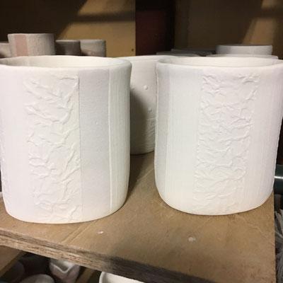 「和紙柄アレンジ」のカップ等の外側