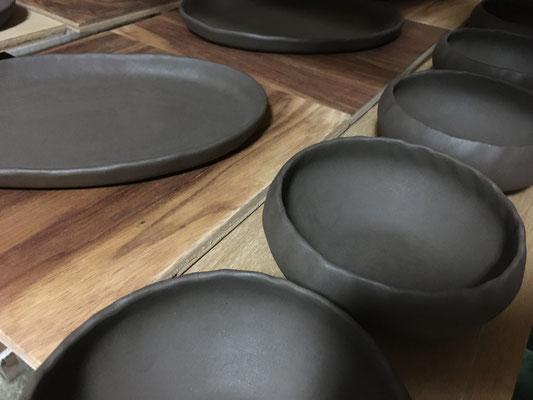 楕円皿と丸小鉢