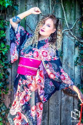The dancing kimono/ Make up and hair by Sara Conesa llorente / https://www.makeup101.nl/