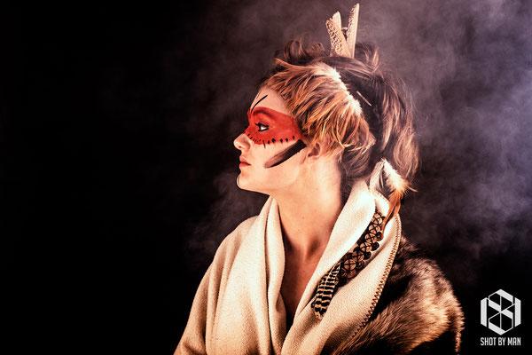 The native warrior woman/ Make up and hair by Sara Conesa llorente / https://www.makeup101.nl/