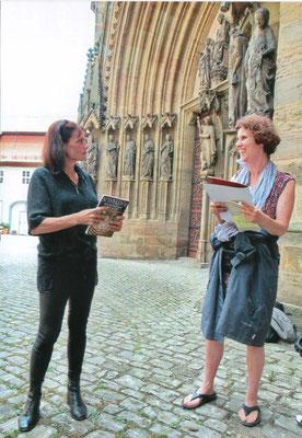 mit Alice Frontzeck, die uns führte