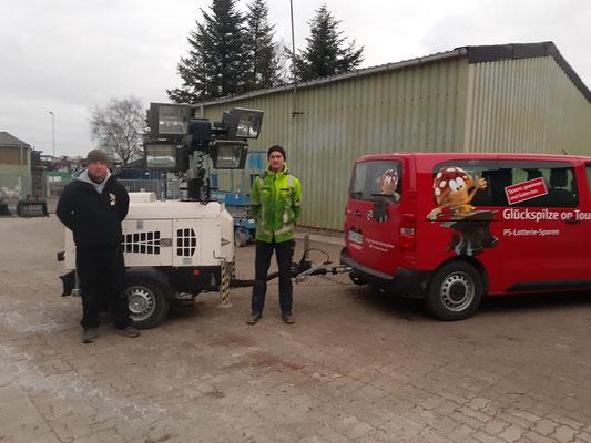 Rene und Herr Meyer von der Goldberg Handel GmbH