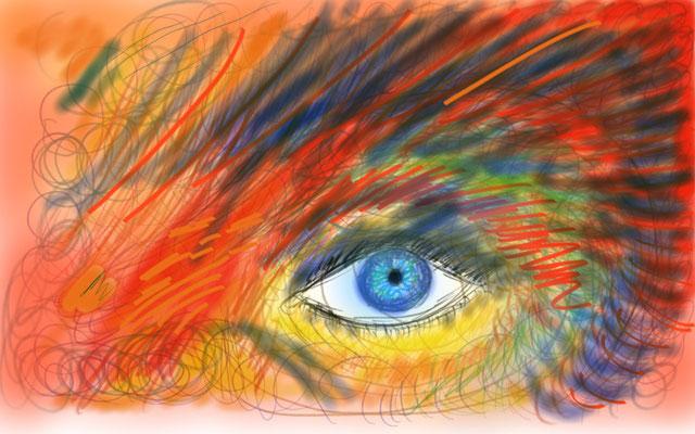 Das magische Auge (Tabletskizze 2013)