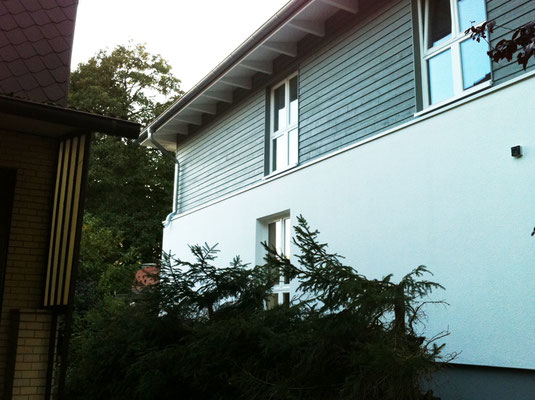 Rückseite mit Holzfassade