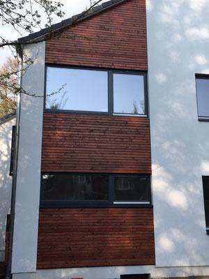 Modernisierung des Hauses mit neuer Fassade