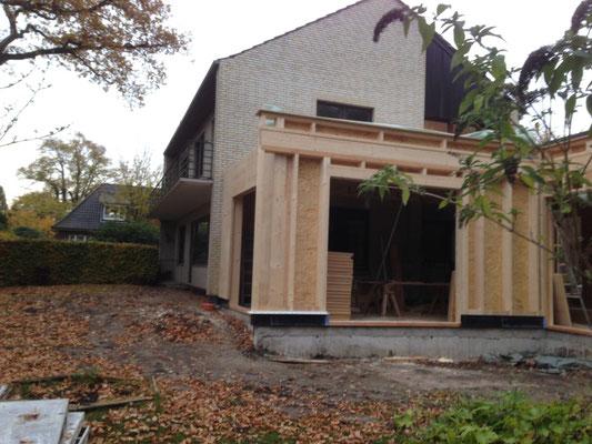 Erweiterung des Hauses Dachsanierung